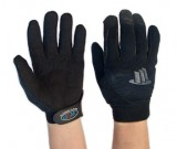 Med Duty Full Finger Mechanics Glove,Black (8-11) - 12PK