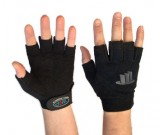 Med Duty Fingerless Mechanics glove,Black (8-11) - 12PK