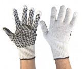 Knitted Cotton wth Black Polka Dot Grip Glove,700g - 12PK
