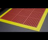 Cushion-Foot Red Rubber Anti-fatigue Mat 0.9m x 0.9m