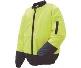 Prime Mover MJ304R Hi-Vis Two Tone Wet Weather Bomber Jacket