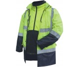 Prime Mover MJ991R Hi-Vis Two Tone 3 in 1 Combination Jacket