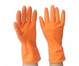 35ml Ltx Flklined Hsehold Gloves Orange (7-10) Ctn:144 prs