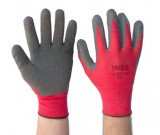 VADER RED Nylon Latex Palm Coated Gloves (7-11) - 12PK