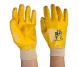 Top-Gard II Full Dip Nitrile Glove Yllw Knitted Wrist (9,10) - 12PK