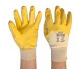 Yellow Nitrile 3/4 Dipped Glove (8-10) - 12PK