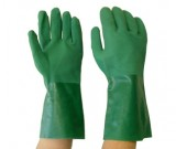 Double Dipped Flocklined Green PVC Glove - 35cm - 12PK