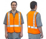 Hi-Vis Orange Sfty Vest - D/N Use (M-XXXL) Ctn Qty: 50