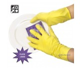 Proval THRIFTY YELLOWS - Economy flocklined rubber gloves Ctn 144