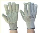 Grey Taeki 5 Knitted, Cowsplit Leather Palm (9-12) - 12PK