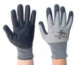 Grey Taeki 5 Knitted, Blk Nitrile Palm Ctd Gloves (8-10) - 12PK